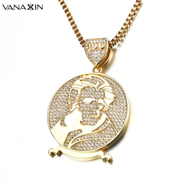 Vanaxin 20 usd dollar round hip hop pendants necklaces for men micro vanaxin 20 usd dollar round hip hop pendants necklaces for men micro paved cz jewellery rhodium aloadofball