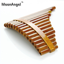 15 Pipes Pan Flute Item font b Woodwind b font Flauta G Key Curved Handmade Bamboo