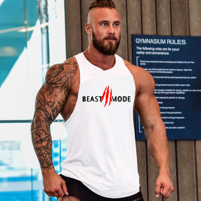 2018 Brand Casual vest men musculation Summer Cotton Fit Men Tank Tops Clothing Bodybuilding Undershirt Golds Fitness man M-2XL 2