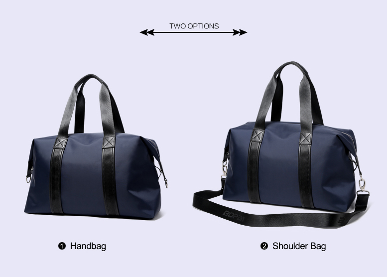 BOPAI 2019 Men Travel Duffle Bags Very Good Load Bearing Women Overnight Weekend Travel Shoulder Bags Black Blue Unisex valise
