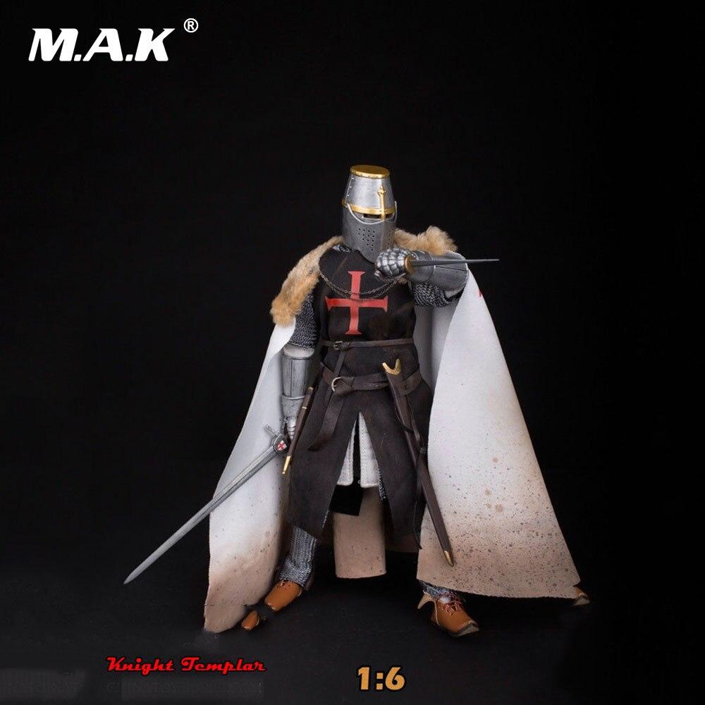 Collection Modèle Jouets 1:6 Échelle ZH006 Médiévale Templar Chevalier Soldat Action Figure Modèle Jouets pour Cadeau D'anniversaire