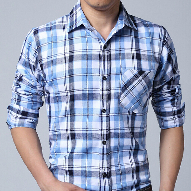 729f92baa 2016 Brand Shirts Mens Camisa Xadrez Check shirts Design Slim Fit Long  Sleeve Pattern Social Casual Shirts Chemise Homme FHY133-in Casual Shirts  from Men's ...