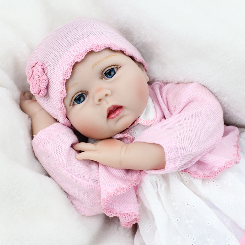 NPK Reborn baby Dolls Soft Silicone Vinyl Doll For Girls Kids Gift Realistic baby reborn realisting silicon Toys Promotion-in Dolls from Toys & Hobbies    1