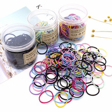 2019 Arrival Baby Girls New Hair Band Rope Fashion Kids 100pcs/set Set Candy Color Tie Accessories Trendy Elastic Bands