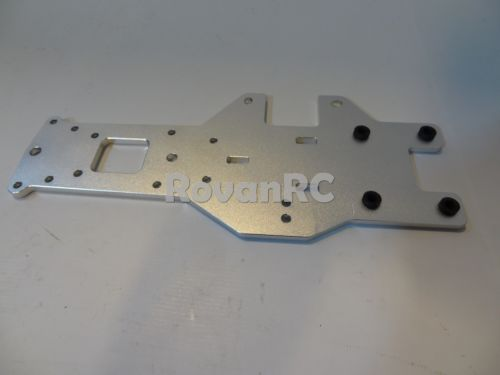1 5 Scale HD 6mm Thick Aluminum Rear Lower Plate Chassis Frame Fit HPI Baja 5B