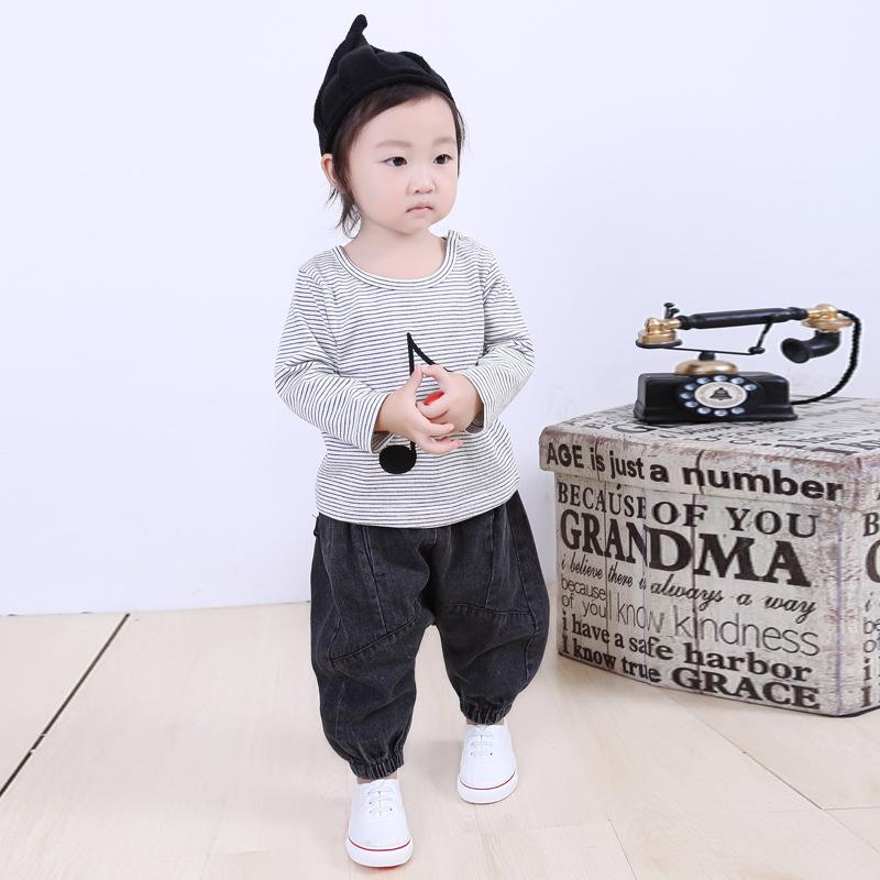 otoo del resorte de los pantalones vaqueros de los nios pantalones harn beb de calidad