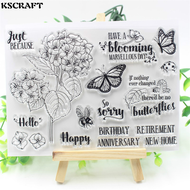 KSCRAFT Happy Birthday Transparent Clear Silicone Stamp/Seal for DIY scrapbooking/photo album Decorative clear stamp sheets lovely animals and ballon design transparent clear silicone stamp for diy scrapbooking photo album clear stamp cl 278