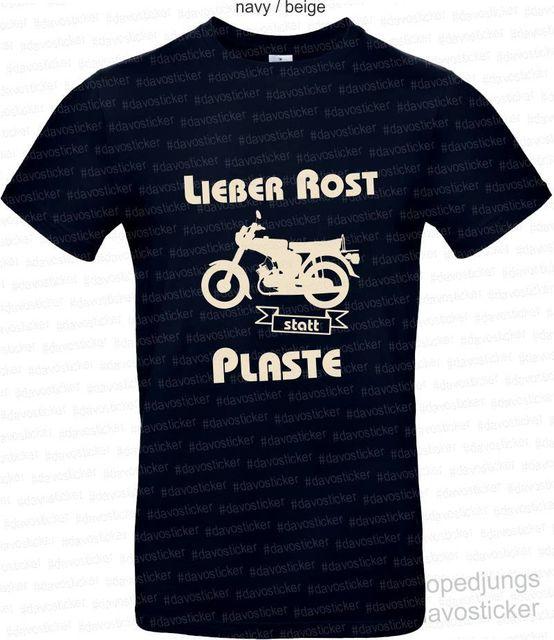 T-Shirt im Osten geht die Sonne auf-rt 125 Mopedjungs Simson MZ Oldtimer MopedFor hommes 2019 nouveau manches courtes coton décontracté hommes