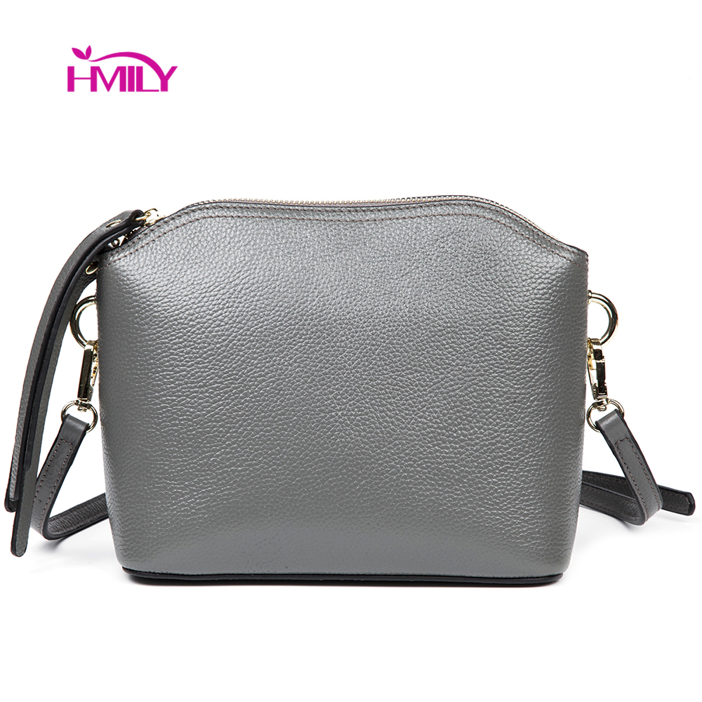 HMILY Genuine Leather Women Messenger Bag Daily Shopping Bags Female Mini Ladies Crossbody Bag Korean Four Candy Colour Lady hmily genuine leather crossbody bag female diamond lattice messenger bag luxury socialite daily bag chaibs style women bag