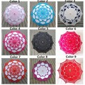 100% Chinese Handmade Lace Umbrella Parasol Embroidery Wedding Umbrella Decoration For Bridal Umbrella Ombrelle Mariage 9Colors