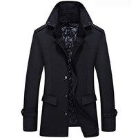 Brand New Men Jacket Coat 2017 Slim Fit Trench Coat Solid Jackets Men's Casual Overcoat Jaqueta Masculina Veste Homme