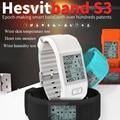 2016 newest hesvit s3 heart rate bluetooth smartband heartbeat  smart bracelet  Wrist Humidity Temperature activity monitor
