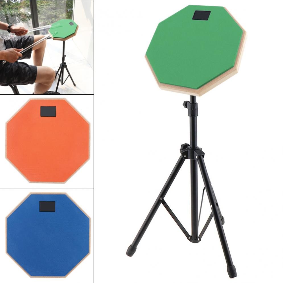 8 Inch Rubber Wooden Dumb Drum Practice Training Drum Pad with Stand 3 Colors Optional8 Inch Rubber Wooden Dumb Drum Practice Training Drum Pad with Stand 3 Colors Optional