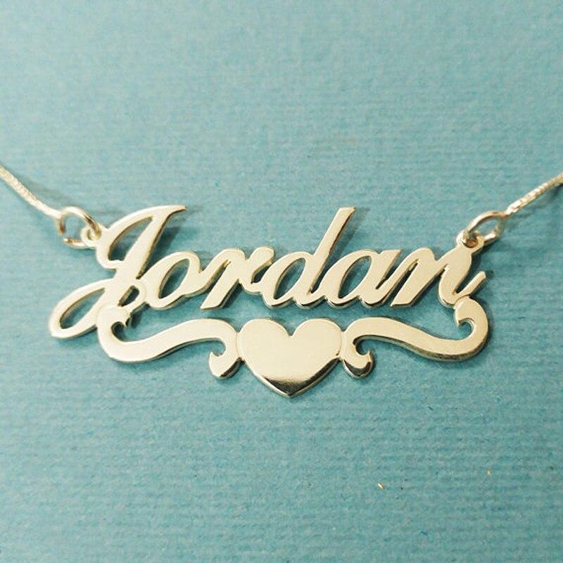 Personalisierte Doppel Name Halskette Für Frauen Gold Farbe Edelstahl Benutzerdefinierte Schmuck Hochzeit Geschenk Schmuck & Zubehör
