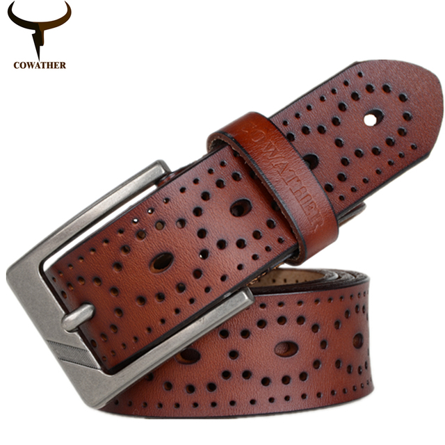 New Design Of High Quality Men's Genuine Leather Belt With Pin Buckle