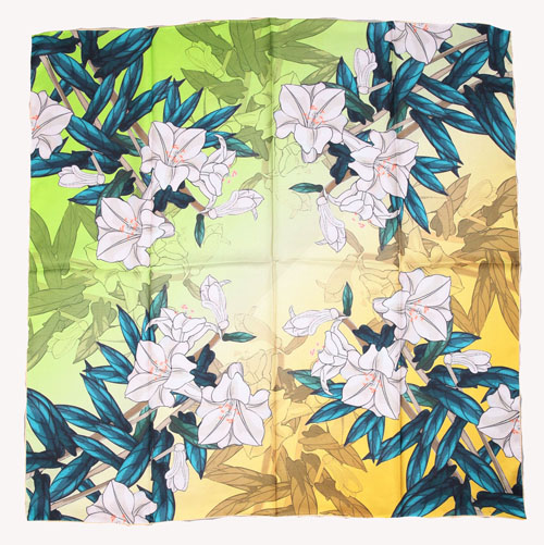 ELEGANT HANDMADE BRAND 100%Twill Silk Scarf TWIC-209512A