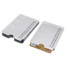 10PCS/lot RFID 13.56mhz IC card Protection NFC Shielded Card Sleeve Prevent unauthorized scanning