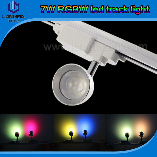 Langma Tracking Spotlight Rgbw 7w Multi Color 60 Degree Beam Angle Wireless Led Track Spot Light 1 Wifi In Lighting From Lights