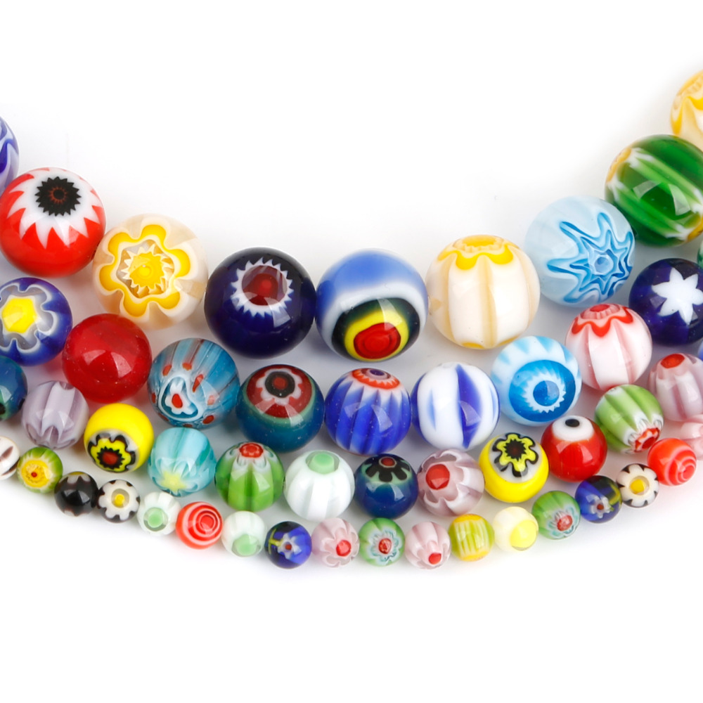 11pcs Handmade Lampwork Glass Square Shape Loose Beads Size 16mm
