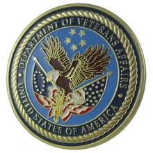 Военный отдел ветеранов США 24 K GP наградная монета 1058