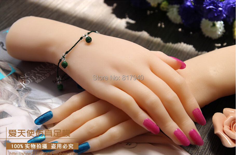 New arrival!one pair realistic silicone female mannequin hands for ...