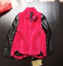 autumn winter real fur jacket high quality genuine sheepskin long sleeve ladies rabbit fur jacket coats