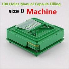 Капсульная листовая прокладка 100 отверстий ручная машина для наполнения капсул #0 фармацевтические капсулы Производитель DIY медицина травяные таблетки порошок