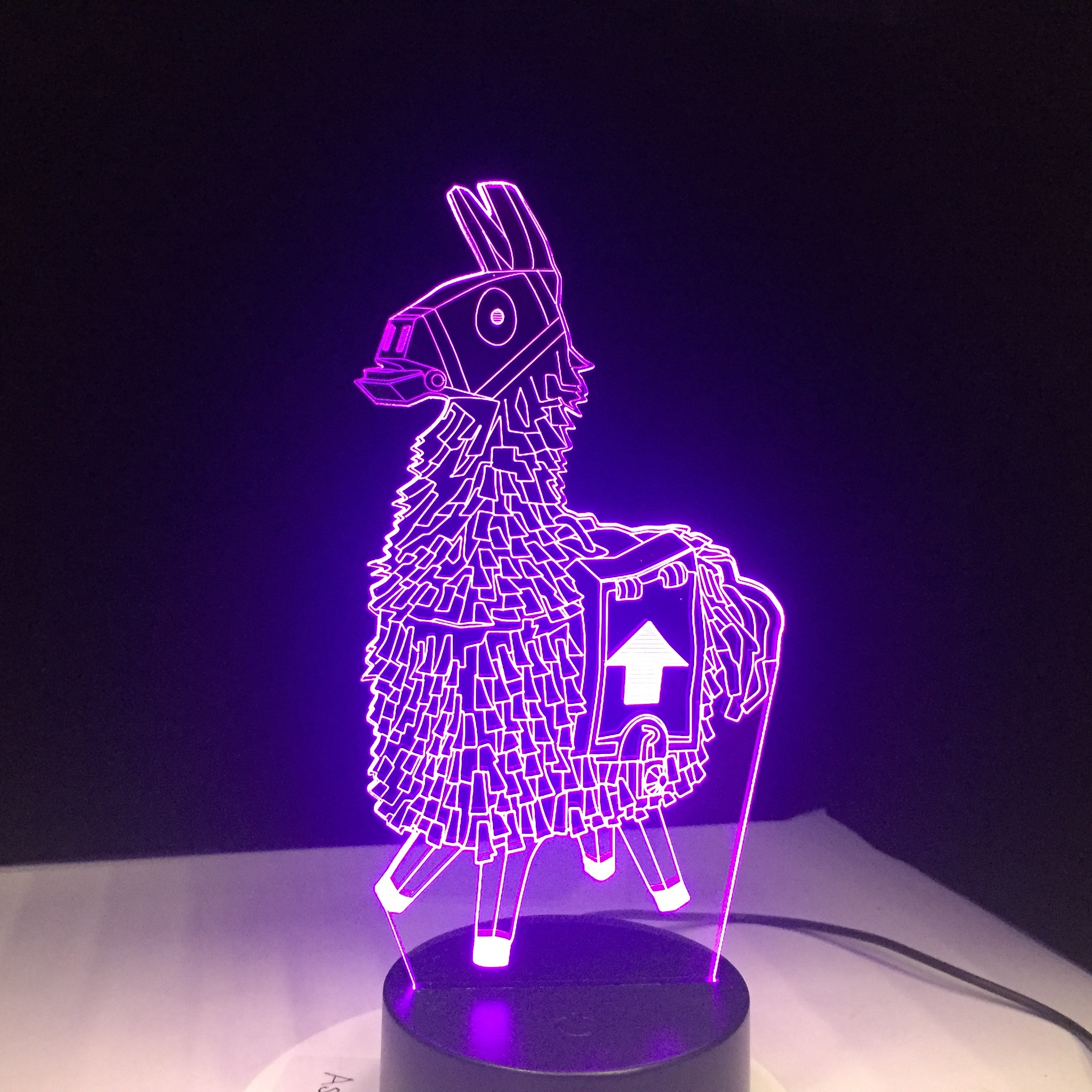 Stash Alpaca Llama Scar Chug Jug Reaper Glider Girl Skin 7 Colors 3D LED Lamp Night Light For Birthday Holiday Gift Dropshipping