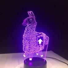 Stash Alpaca Llama Scar Chug Jug Reaper Glider Girl Skin 7 Colors 3D LED Lamp Night Light for Birthday Holiday Gift Dropshipping
