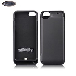 Charger Battery Case 4200mAh External Backup Power Bank wireless charging for iPhone 5/5S/5C SE case for iphone-Black