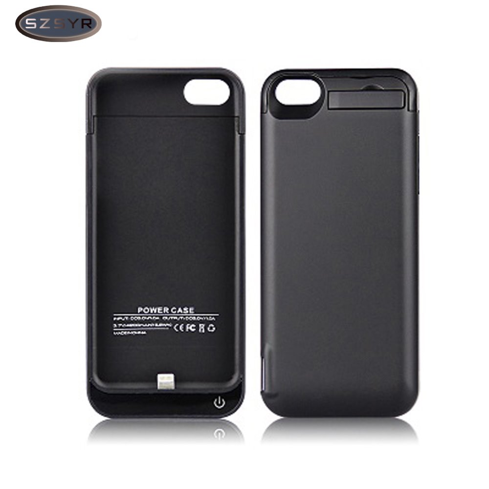 Hot Sale 4200mAh External Battery Backup <font><b>Charger</b></font> <font><b>Case</b></font> Power <font><b>Case</b></font> Bank wireless <font><b>charger</b></font> <font><b>for</b></font> <font><b>iPhone</b></font> 5/5S/5C SE Freeshipping Black