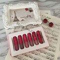 Maquillaje Kit de Regalos de San Valentín Vacaciones Mate Brillo de Labios Lápiz Labial Líquido brillo de Labios 6 Unids/set