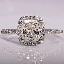 Элегантное белое овальное циркониевое кольцо, Модные CZ свадебные ювелирные изделия, заполненные серебром обручальные кольца для женщин Anillos Mujer