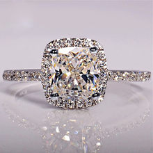2019 Elegant White Oval Zirconia Ring Fashion CZ Wedding Jewelry Silver Filled Engagement Promise Rings for Women Anillos Mujer(China)