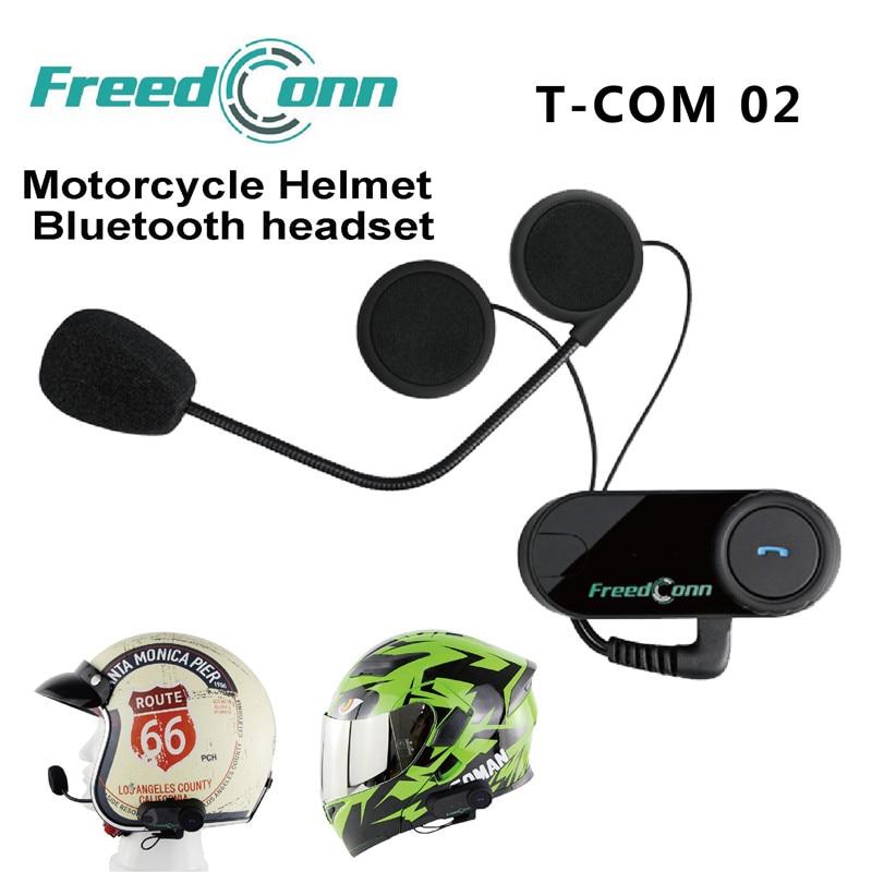 Freedconn TCOM-02 Étanche BT écouteurs sans fil bluetooth casques de moto Casque Contrôle MP3/4 Radio iPod Deux microphone