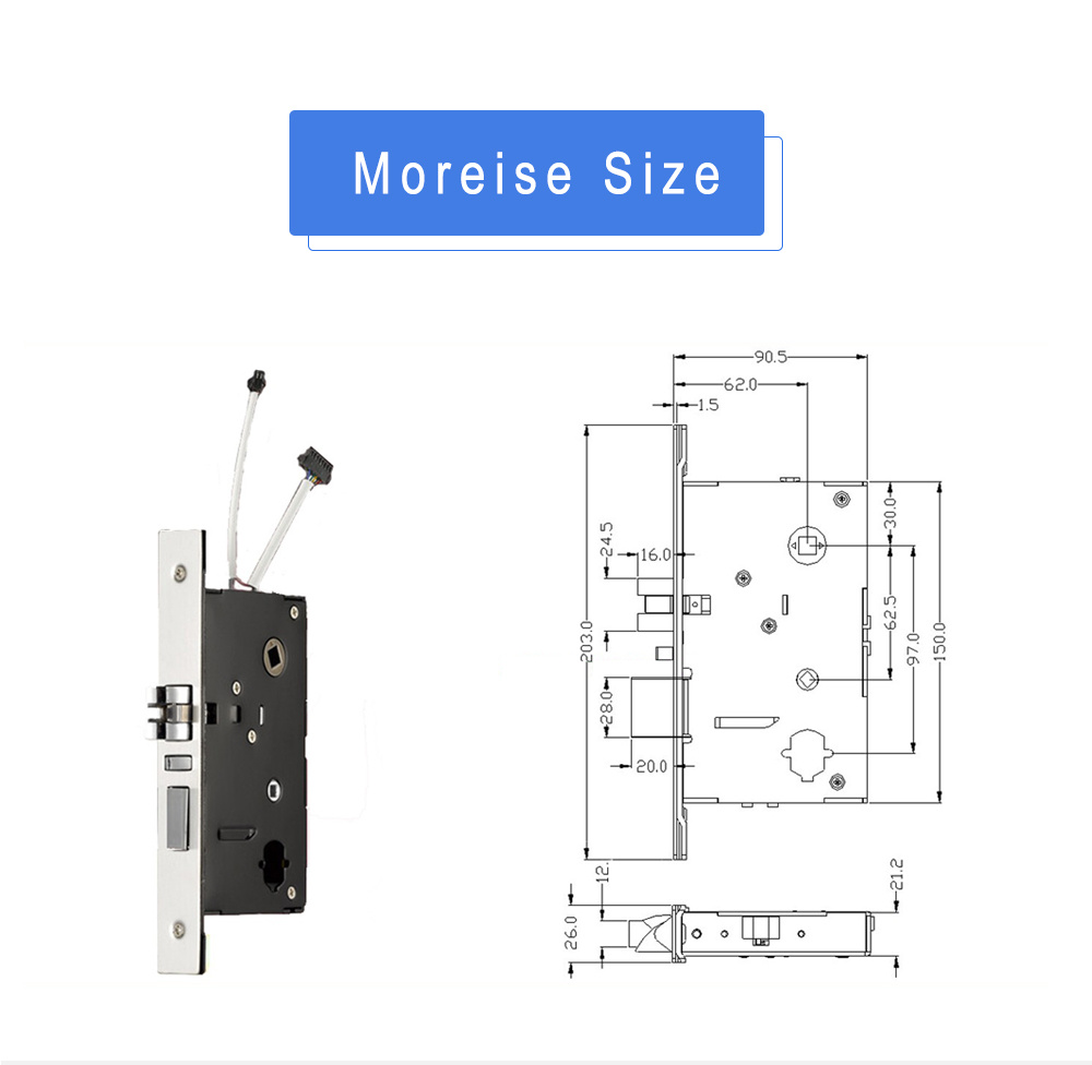 Safe-Electric-Smart-Digital-Electronic-Mortise-RFID-Card-Cylinder-Hotel-Door-Lock-with-System (4)
