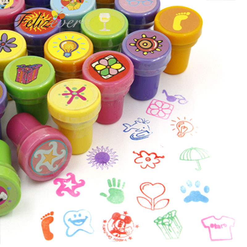 36PCS Self ink Stamps Kids Birthday Party Favors for Birthday Giveaways Gift Toys Boy Girl Christmas