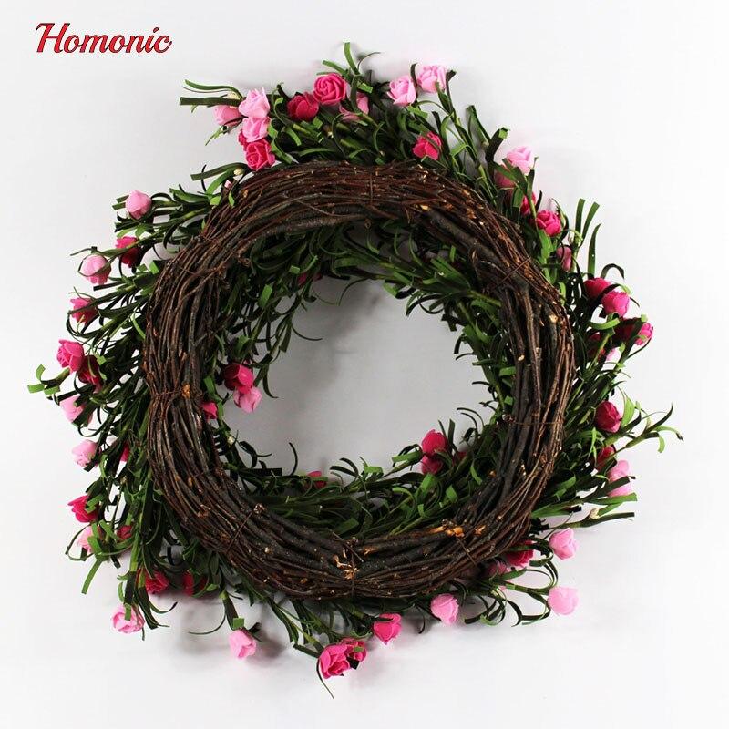 Door Decor Artificial flower wreath Holidays Decoration rose wreath ...