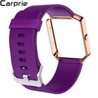 En iyi Fiyat Yumuşak Silikon Watch Band Bilek kayışı + Metal Çerçeve + HD Film Için Fitbit Blaze İzle en kalite drop shipping fe7