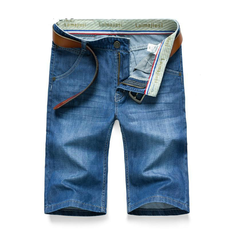 Summer Classic Blue Thin Short Jeans Mens Jeans Brand-clothing Causul Jeans Mens Denim Jeans Slim Fit Men Cheap Clothes China