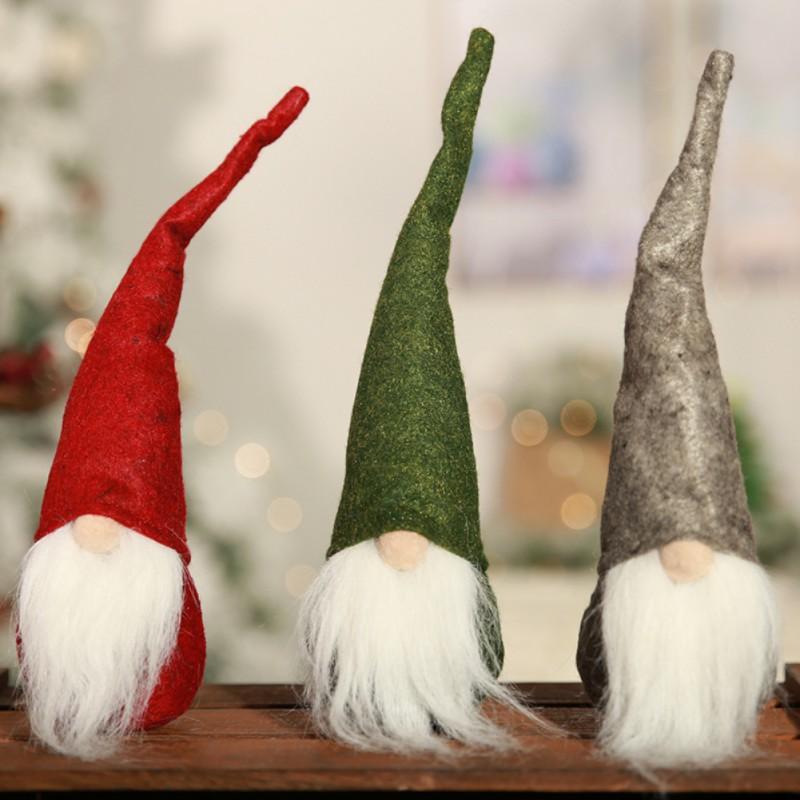 US $1 83 35% OFF|Mini Swedish Christmas Santa Claus Tomte Long Hat Gnome  Plush Doll Handmade Home Decor Favorite Dolls Desktop Figurine Ornament-in