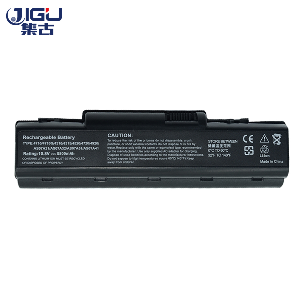 JIGU New 12 Cell Laptop Battery AK.006BT.020 AK.006BT.025 AS07A31 For Acer Aspire 5732Z 5735 5737Z 5738 5740 5740G 7715Z AS5740 10 8v 11 1v 12 cell laptop battery pack for acer aspire 5340 5542 5738z 5740 as5740 as5542 as07a75