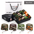 2016 Cheap Camo Mens Boxer Shorts Camouflage Breathable underpant Mens Bamboo Underwears Trunk Sexy Penis Pouch Panties 4pcs/set