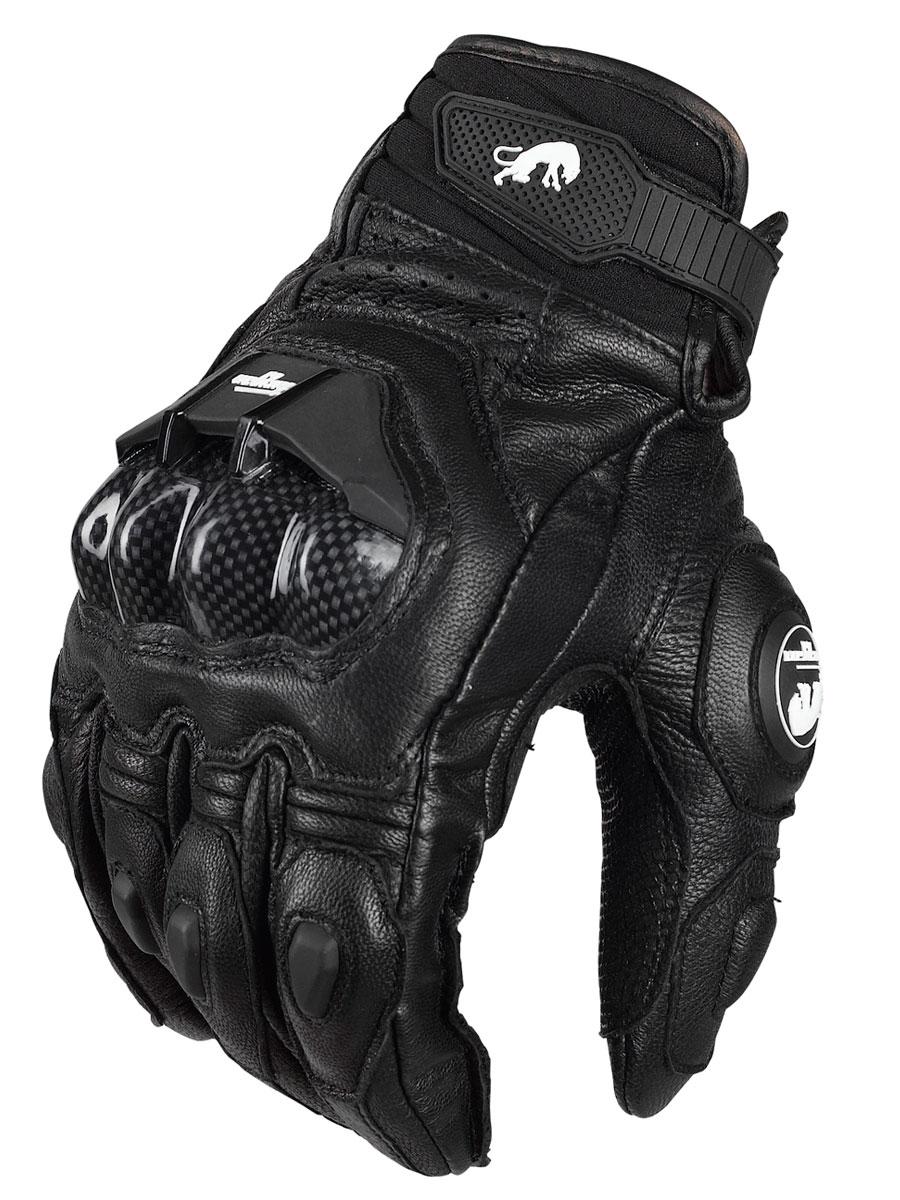 Motorcycle Racer Genuine Leather Gloves AFS 6 Carbon Fiber Knuckle Protection Short Gloves MotoGP Racing Gloves Guantes