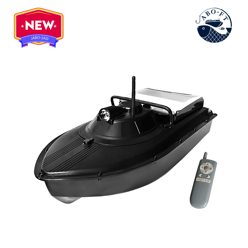 Jabo factory JABO-2AD  20Ah rc casting bait and lines bait boat free shipping factory price catamaran hull jabo 5a long distance two hoppers rc bait boat for releasing hook