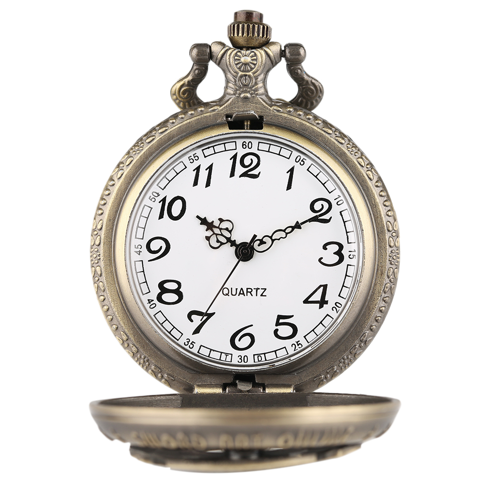 Vintage SAO Sword Art Online Quartz Pocket Watch Necklace Pendant for Kids Men Women Analog Chain Gifts Bronze Fob Clock relogio 2018 (5)