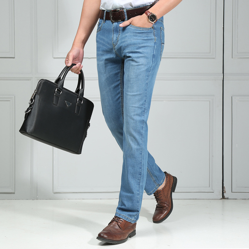 New Xu.ing Mens Casual Stretch Easy Jeans Trousers