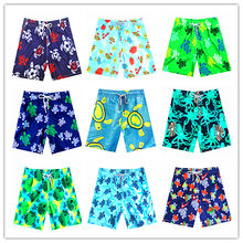 2019 Brand Vile Mens Beach Board Short Mappemonde Dots Starlettes Turtles Male Swimwear Elastic Waist Brequin Stretch Swimtrunks(China)