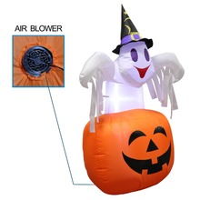 142 cm Inflatable Polyester Halloween Pumpkin For Outdoor Decor