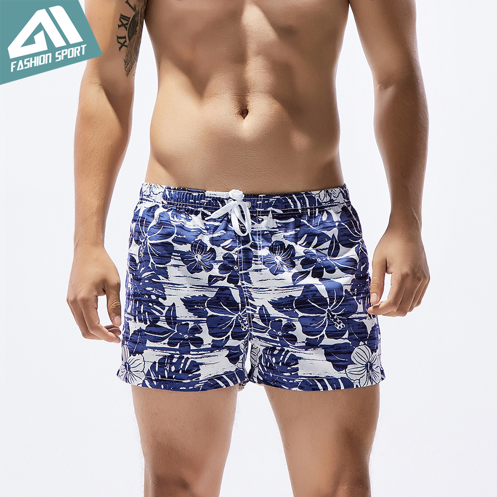 Seobean Summer Playful Pattern Men's Board Shorts 13in Fixed Waist Swim Trunk Holiday Beach Fast Dry Men Swimming Shorts SE77